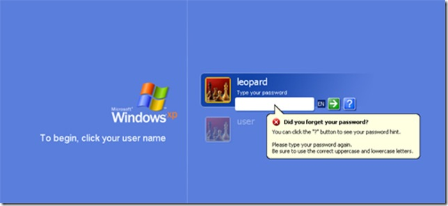 how to recover computer password windows xp